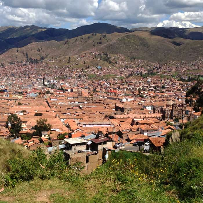 First vew of Cuzco from the hill