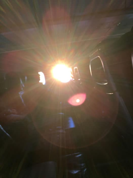 Sunrise from the plane leaving SFO