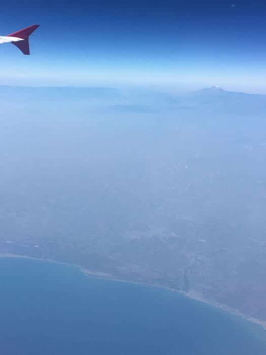 I think we were flying near Mexico here