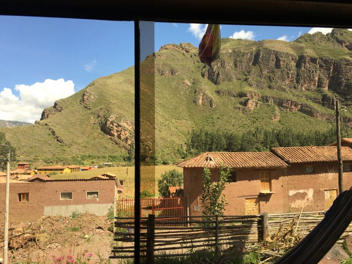 The view out my window while I am working at my desk.