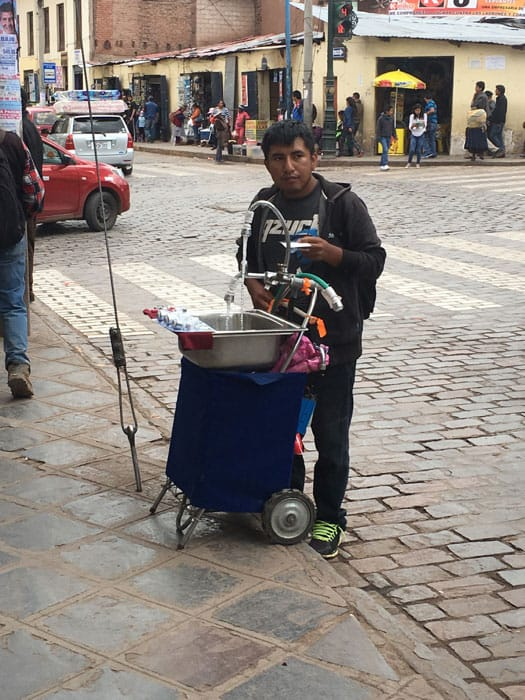 Vendor on a Cuzco street