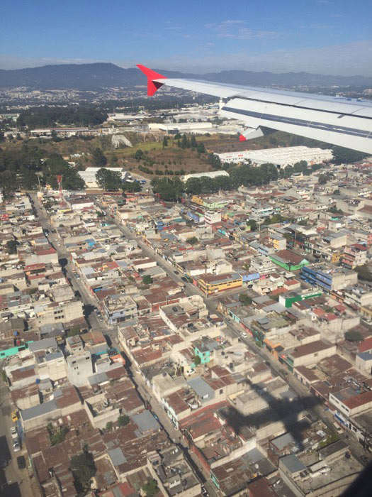 view of Equador buildings from plane